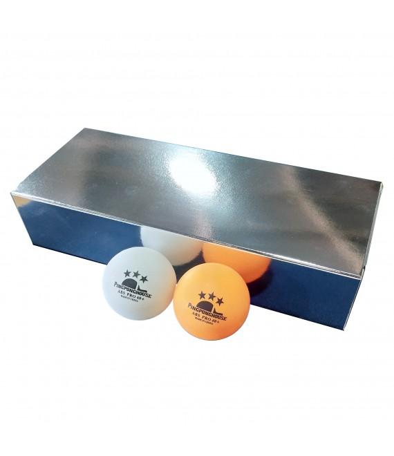 ลูกปิงปอง Pingponghouse 3 ดาว รุ่น ABS PRO 40+ (กล่อง 10 ลูก)