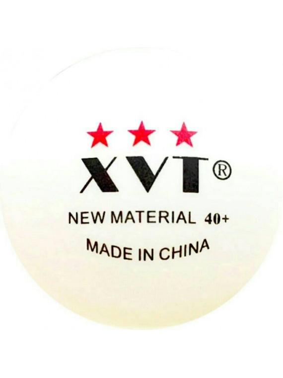 ลูกปิงปอง XVT 3 ดาว รุ่น NEW MATERIAL 40+ (จำนวน 9 ลูก) พร้อมกล่องใส่ลูก