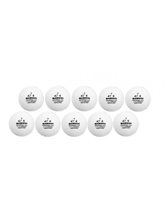 ลูกปิงปอง SANWEI 40+ 1 ดาว Pro Training (จำนวน 10 ลูก)