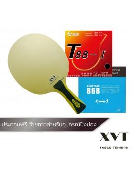 ไม้ปิงปองประกอบจัดชุด XVT ZL Hinoki + ยางปิงปอง Sanwei T88-I + ยางปิงปอง Kokutaku 868 40+